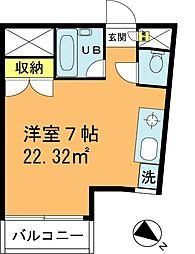 チャコウル(炭)浦安 2階ワンルームの間取り