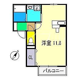 フルーレ[1階]の間取り