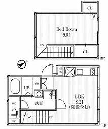 東急東横線 中目黒駅 徒歩7分の賃貸マンション 4階1LDKの間取り
