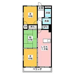 グランドヒルズ神宮寺5番館[2階]の間取り