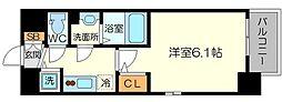 エスリード新大阪グランゲートノース 4階1Kの間取り