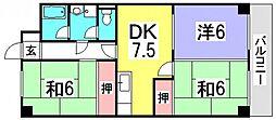 コーポ井口台[1階]の間取り