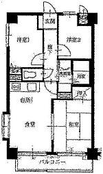神奈川県座間市緑ケ丘1丁目の賃貸マンションの間取り