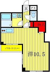 CREW HOUSE 東松戸[4階]の間取り