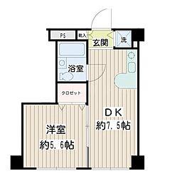 二俣川YSマンション[3階]の間取り