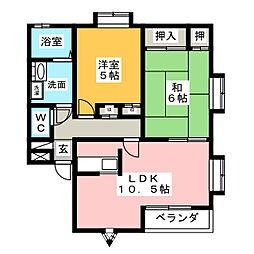 ガーデンハウス中野[2階]の間取り