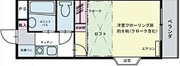 神奈川県川崎市多摩区栗谷4の賃貸アパートの間取り