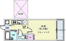 仙台市地下鉄東西線 八木山動物公園駅 徒歩25分の賃貸アパート 1階1Kの間取り