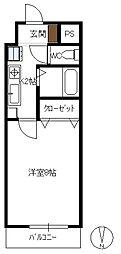 田中興産第11ビル[806号室]の間取り