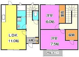 [テラスハウス] 東京都練馬区南大泉3丁目 の賃貸【東京都 / 練馬区】の間取り