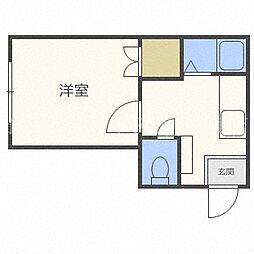 北海道札幌市東区北二十八条東15丁目の賃貸マンションの間取り