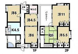 [一戸建] 奈良県奈良市西ノ京町 の賃貸【奈良県 / 奈良市】の間取り