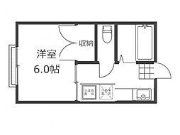 リディアコーポ2[3階]の間取り