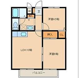 愛知県名古屋市昭和区伊勝町1丁目の賃貸アパートの間取り