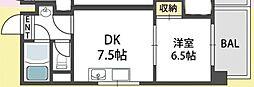 プリムローズ[6階]の間取り