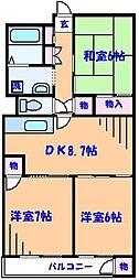 市川パークハウスA棟[10階]の間取り