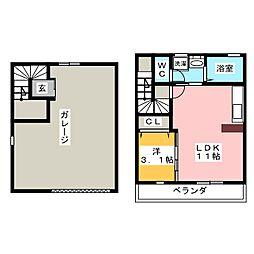Gハウス江南[2階]の間取り