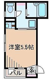 神奈川県横浜市神奈川区西神奈川2丁目の賃貸アパートの間取り