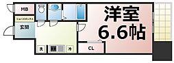 Osaka Metro中央線 緑橋駅 徒歩5分の賃貸マンション 11階1Kの間取り