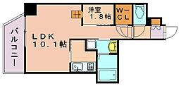 リアンシエルブルー東比恵2[9階]の間取り