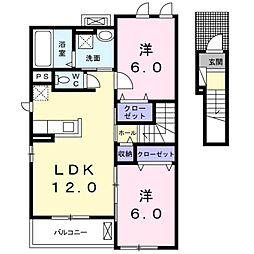 ビアンコ A棟[2階]の間取り