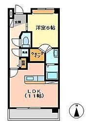 EXESS-SITY エグゼスシティ[3階]の間取り