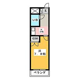 リヴラン西大寺[2階]の間取り