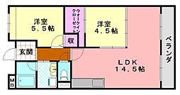 ピノシャトレ[403号室]の間取り
