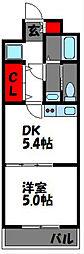 ピュアドームスタシオン箱崎[4階]の間取り