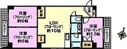 モンラヴィ新神戸[6階]の間取り