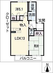 ファミイ A棟[1階]の間取り