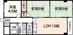 ウイング88 2階3LDKの間取り