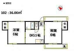 グリーンハイム高松[1階]の間取り