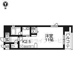 ベラジオ京都神泉苑202[2階]の間取り