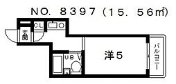 アップル天王寺[4階]の間取り