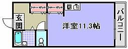 サンシティ和泉[201号室]の間取り