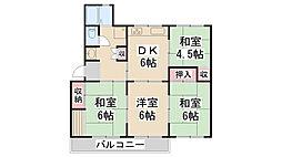 清和台公社22号棟[105号室]の間取り