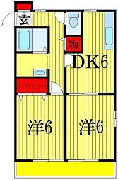 シティハイムアカツキ[2階]の間取り