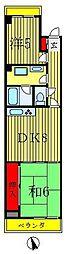 松戸竹ヶ花パークハウス[2階]の間取り