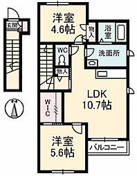 リラフォートOhana[2階]の間取り