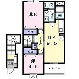 コネクションA[2階]の間取り