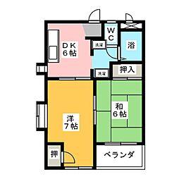 パレス東栄[2階]の間取り