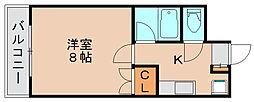 パピヨン箱崎[2階]の間取り