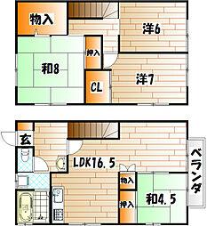 カサブランカパートIII ペット可[1階]の間取り