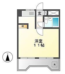 ユニーブル栄[4階]の間取り