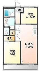 トヨタハイツI[202号室]の間取り
