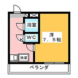 ロイヤルマンション磐田[5階]の間取り