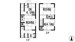 [テラスハウス] 大阪府箕面市瀬川2丁目 の賃貸【/】の間取り