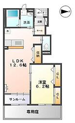 高木西賃貸アパート新築工事[102号室]の間取り