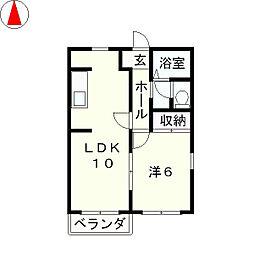 プロパティカオル2 B棟[2階]の間取り